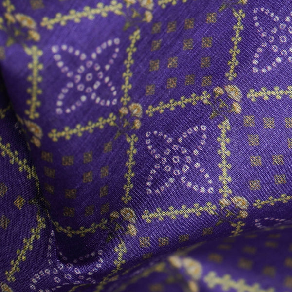 Pure Tussar Georgette Silk Print Fabric