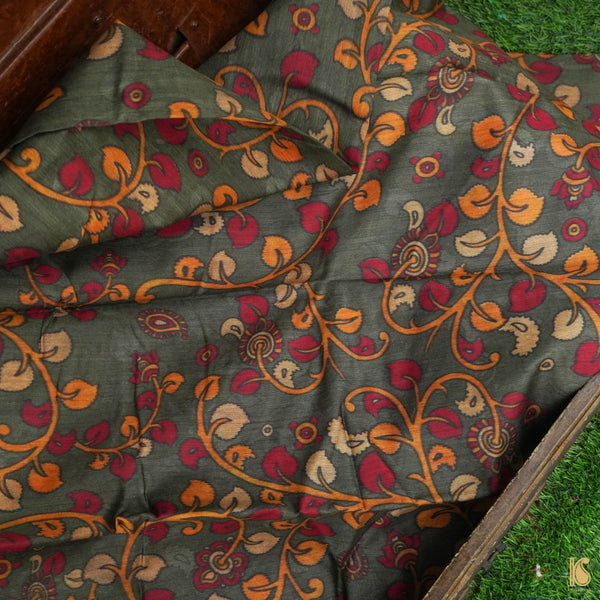 Pure Moonga Silk Print Fabric