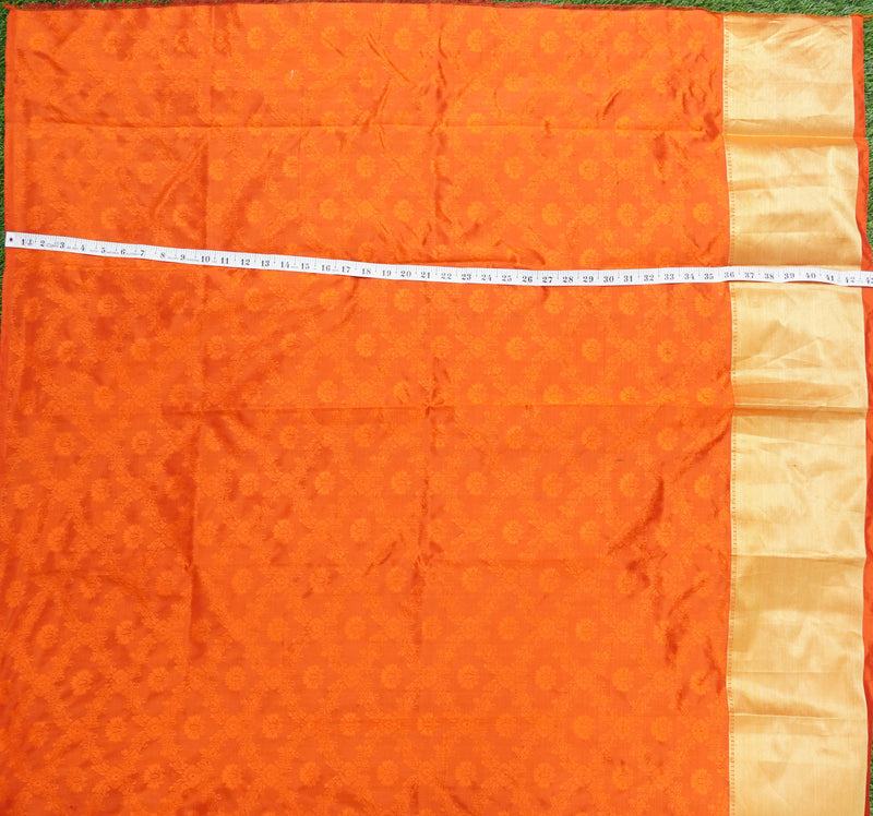 Pure Banarasi Handwoven Tanchui Fabric with Border - Khinkhwab