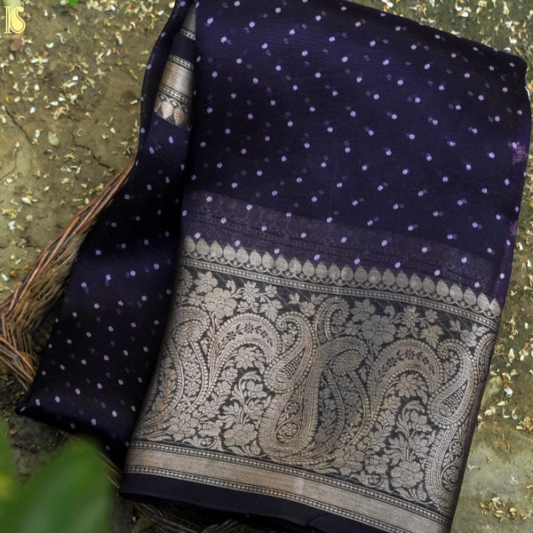 Lucky Point Organza Silk Pichwai Print Banarasi Border Saree - Khinkhwab