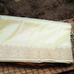 Blonde Yellow Pure Katan Silk Handloom Banarasi Saree - Khinkhwab