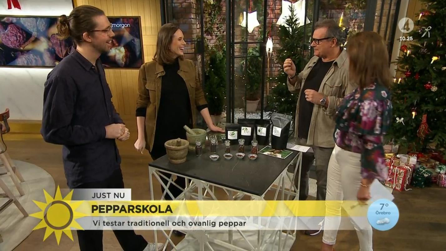 Pepper tasting at swedish national TV