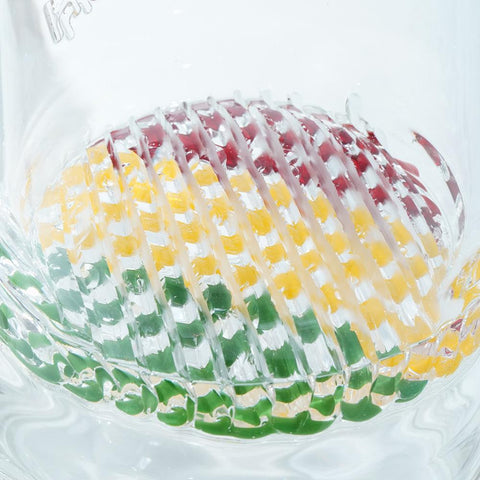Image of Waterpipe Lattice Straight Tube By M&M Tech - M&M Tech Glass
