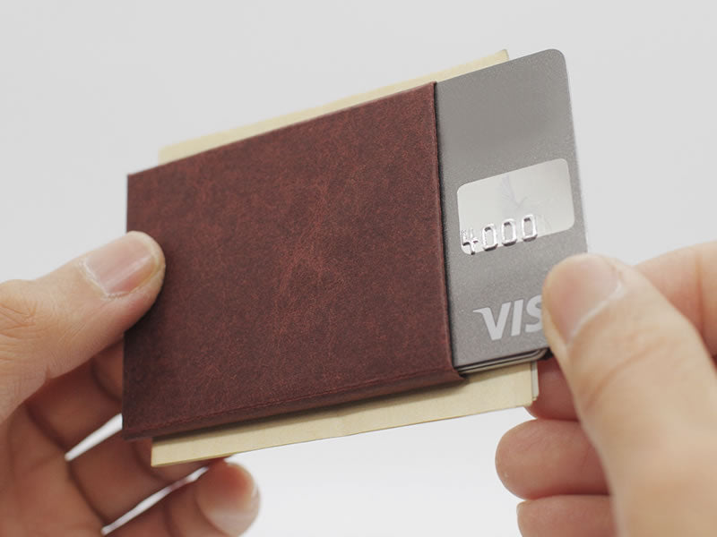 Kamino Card Sleeve: Slim, minimalist, eco-friendly vegan wallets help you live simply.