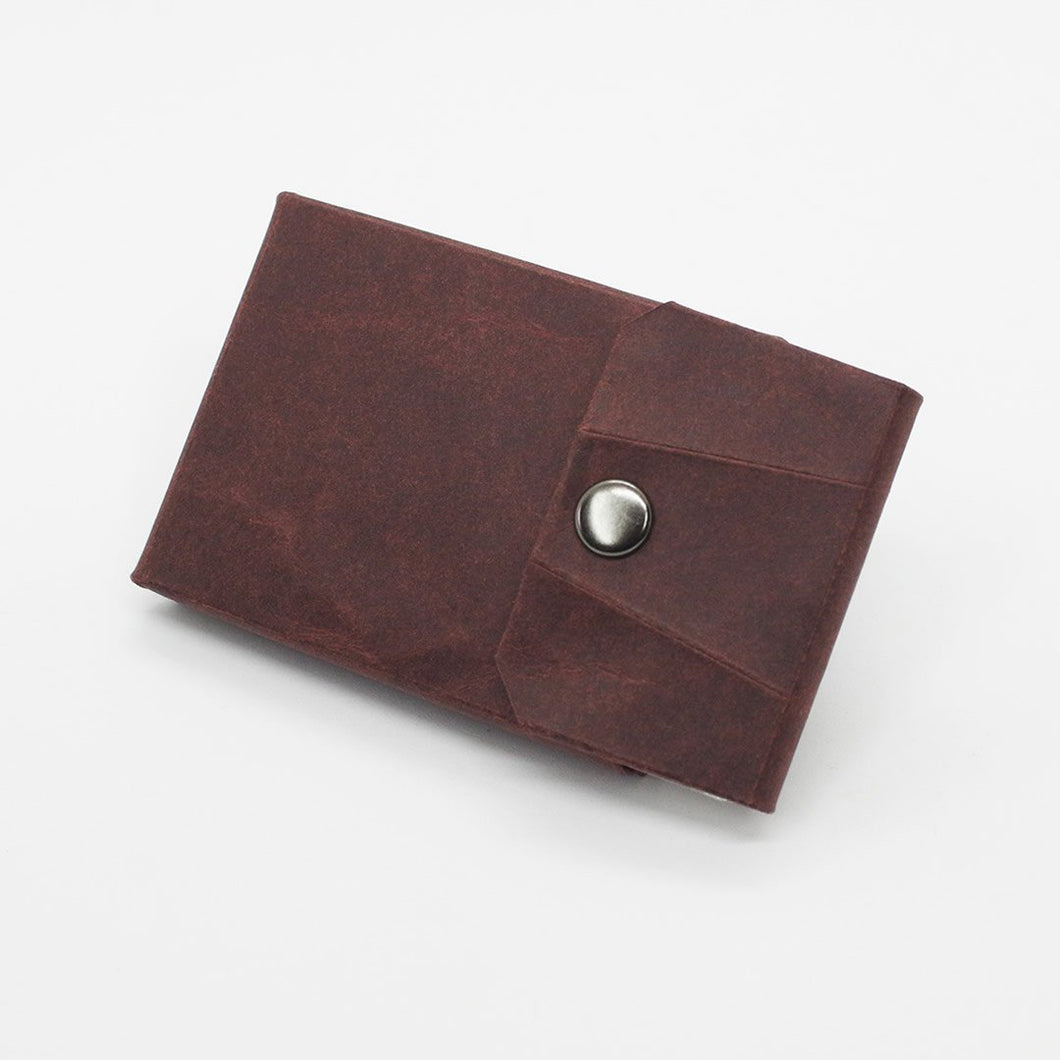 Kamino card wallet in dark brown.