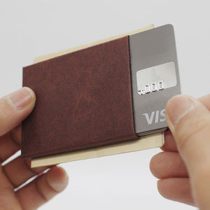 Kamino Cards Sleeve: Slim, minimalist, eco-friendly vegan wallet / money crip.