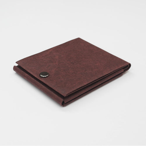 Kamino slim bifold wallet in dark brown