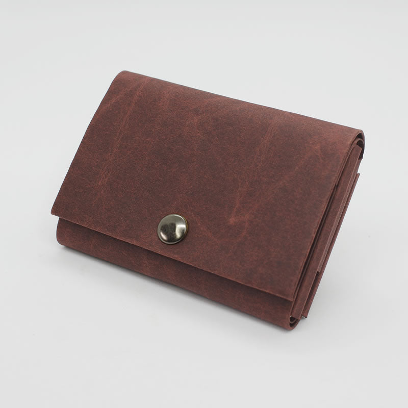 Kamino wrap wallet in dark brown