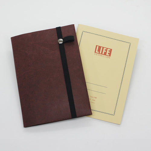 Slim Notebook Cover for A6 Notebooks, such as Hobonichi Techo, Midori MD, Muji, Apica, Stalogy 365, Life vermilion, Nanami cafe note, and more.