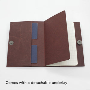 Notebook Cover Pocket Magnetic Closure