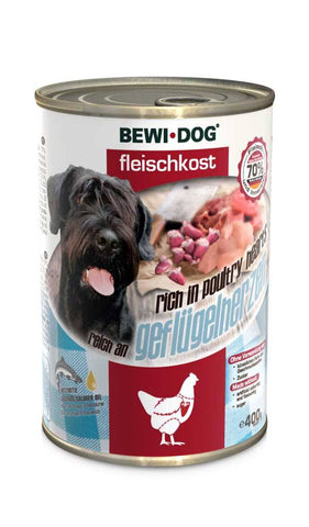 BEWI DOG® MEAT FOOD RICH IN POULTRY HEARTS Wet Dog Food Bewital