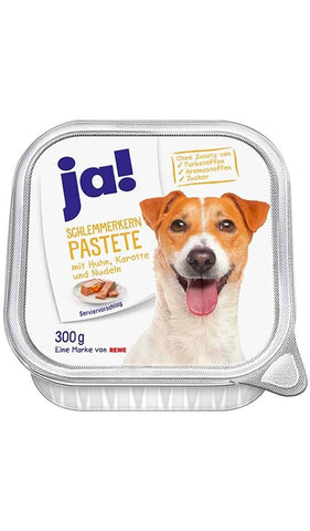 Gourmet pate chicken, carrot and pasta 300g Wet Dog Food JA!