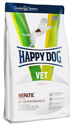 Happy Dog VET Diet Hepatic - nutritional support for liver disease 1kg Dry Dog Food Happy Pet
