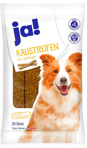 JA! Chicken Chewing Strips for Dogs 20 Pcs Dog Treats JA!