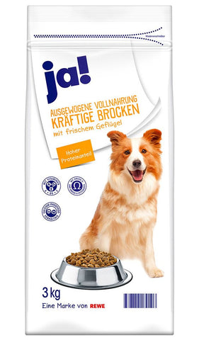 JA! Hearty Poultry Chunks Dog Food 3kg Dry Dog Food JA!