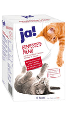 JA! MULTIPACK of Meat variety Cat food 15x100g (1.5Kg) Wet Cat Food JA!