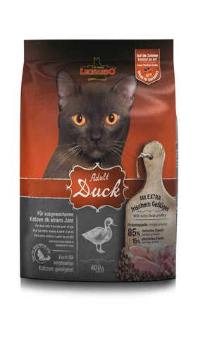 LEONARDO® ADULT DUCK Dry Cat Food Bewital 400g
