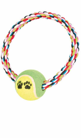 Ring Rope with Tenis Ball Dog accessories Trixie