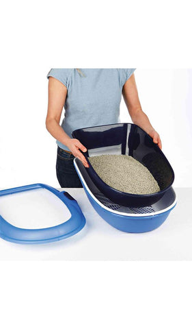 Trixie Berto Litter Tray, Threepart, with separating system Cat Accessories Trixie