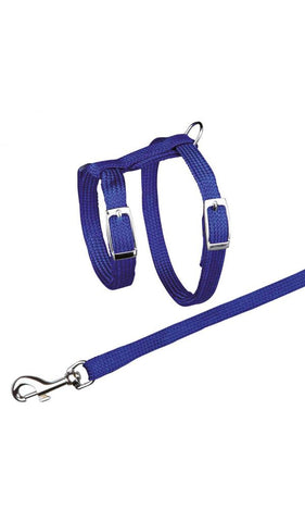 Trixie Cat Harness with Leash Cat Accessories Trixie Blue