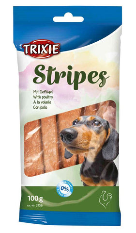 Trixie Chickens Stripes 100g Dog Treats Trixie