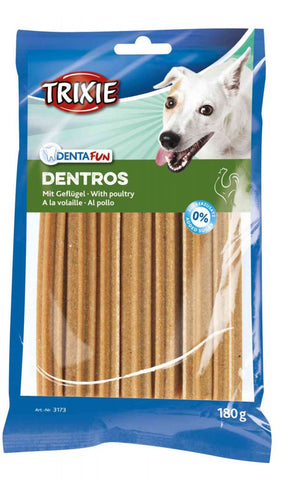 Trixie Denta Fun Dentros with poultry, 7 pcs 180 g Dog Treats Trixie