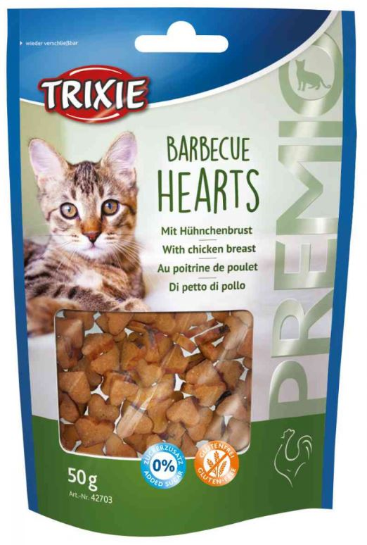 Trixie Premio Barbecue Hearts Cat Treats Trixie
