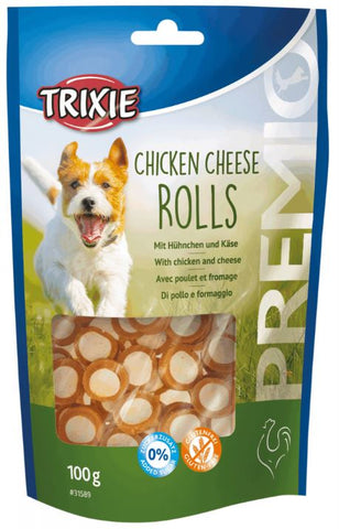 Trixie Premio Chicken Cheese Rolls Dog Treats Trixie