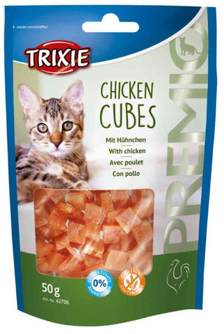 Trixie Premio Chicken Cubes Cat Treats Trixie