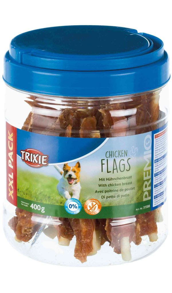 Trixie PREMIO Chicken Flags 400g Dog Treats Trixie