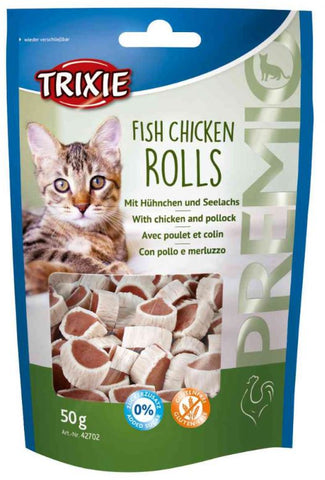 Trixie Premio Fish Chicken Rolls Cat Treats Trixie