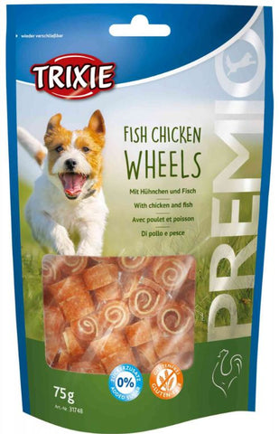 Trixie Premio Fish Chicken Wheels Dog Treats Trixie