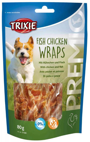 Trixie Premio Fish Chicken Wraps Dog Treats Trixie
