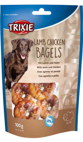 Trixie PREMIO Lamb Chicken Bagels Dog Treats Trixie