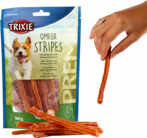 Trixie Premio Omega Stripes Dog Treats Trixie