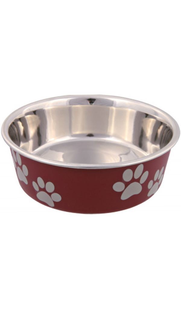 Trixie Stainless Steel Bowl Plastic Coating Dog accessories Trixie