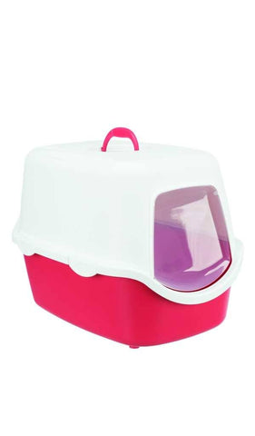 Trixie Vico Litter Tray, with Hood Cat Accessories Trixie Coral White