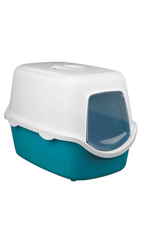 Trixie Vico Litter Tray, with Hood Cat Accessories Trixie turquoise blue