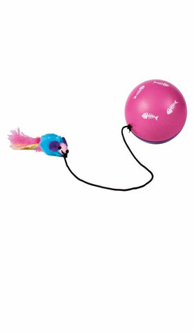 Turbino ball with Motor and mouse Cat Accessories Trixie