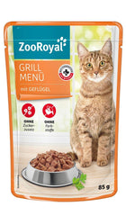 ZooRoyal Cat Grill Menu with Chicken Wet Cat Food Zooroyal