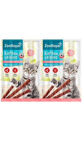 ZooRoyal Cat-Grillies with Salmon (8 Pcs) Cat Treats Zooroyal