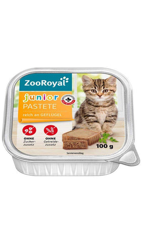 ZooRoyal Cat Junior Paste Chicken Wet Cat Food Zooroyal