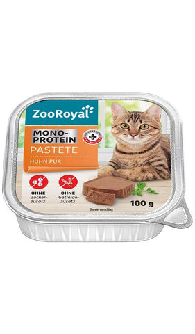 ZooRoyal Cat Mono-Protein Chicken Paste Wet Cat Food Zooroyal