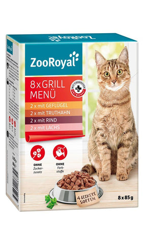 ZooRoyal Cat Multipack Grill Menu (8X85g) Wet Cat Food Zooroyal