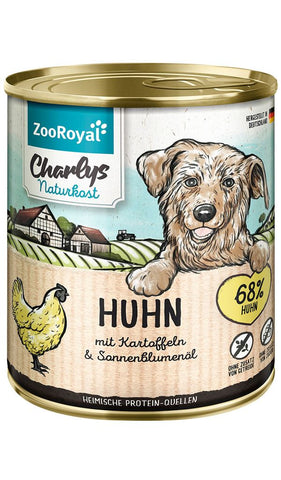ZooRoyal Charlys health food chicken with potatoes & sunflower oil 800g Wet Dog Food Zooroyal