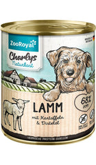 Zooroyal Charlys Natural food lamb with potatoes & thistle oil Dog Wet Food 800g Wet Dog Food Zooroyal