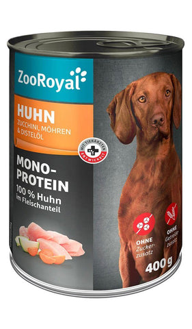 ZooRoyal Dog Food Canned Zucchini, Carrots and Chicken Wet Dog Food Zooroyal
