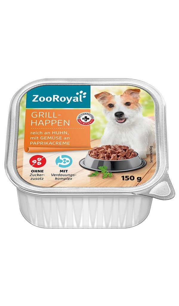 ZooRoyal Dog Grillhappen Chicken & Veggies in Paprika Cream Wet Dog Food Zooroyal