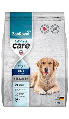 ZooRoyal Dog Individual care - Senior Light Turkey 4Kg Dry Dog Food Zooroyal