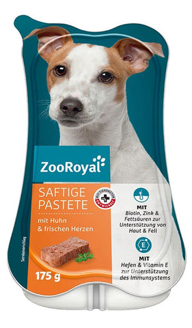 ZooRoyal Dog Juicy Pâté with Chicken & Chicken Hearts Wet Dog Food Zooroyal